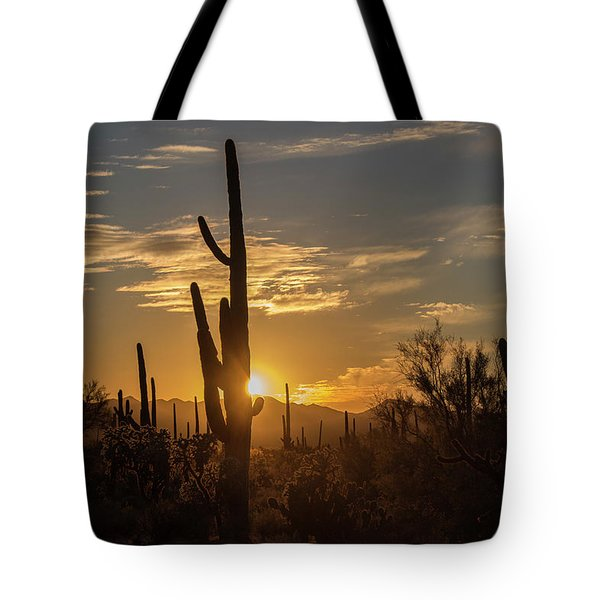 Tote Bag featuring the photograph The Golden Hour by Teresa Wilson