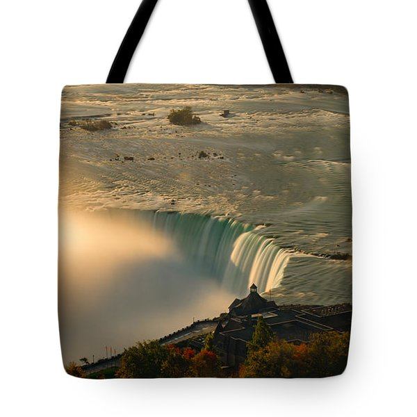 The Golden Mist Of Niagara Tote Bag