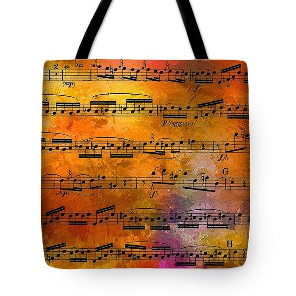 The Golden Music Of Motzart Tote Bag