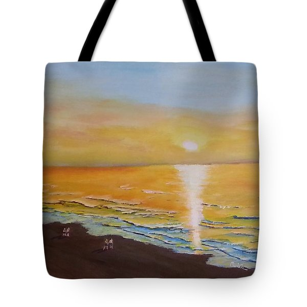 The Golden Ocean Tote Bag