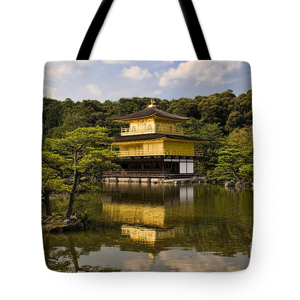 The Golden Pagoda In Kyoto Japan Tote Bag by David Smith