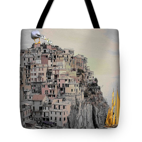 The Golden Sails Tote Bag by Mojo Mendiola
