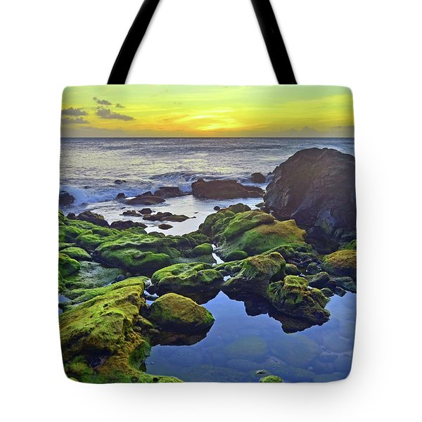 Tote Bag featuring the photograph The Golden Skies Of Molokai by Tara Turner