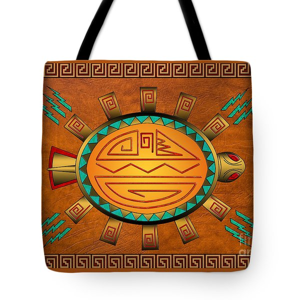 The Golden Spirit Turtle Tote Bag
