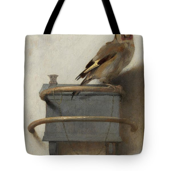 The Goldfinch, 1654  Tote Bag by Carel Fabritius
