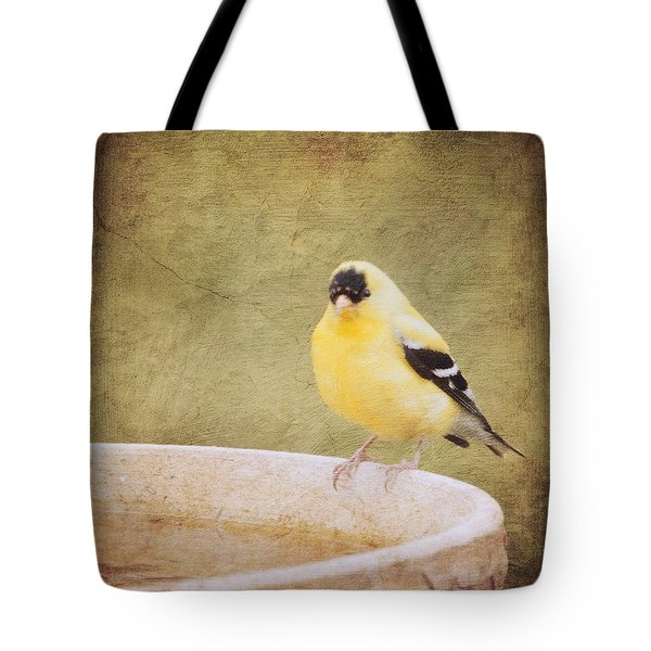 The Goldfinch Painting Effect Tote Bag