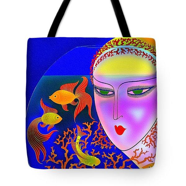 The Goldfish Bowl - Vintage 1920s Tote Bag