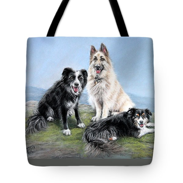 Tote Bag featuring the painting The Good Companions by Rosemary Colyer
