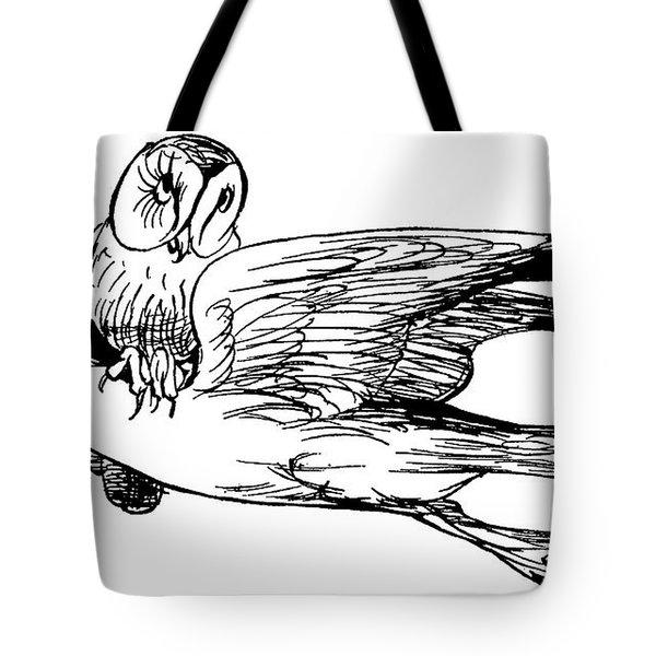 The Good-natured Grey Gull Tote Bag