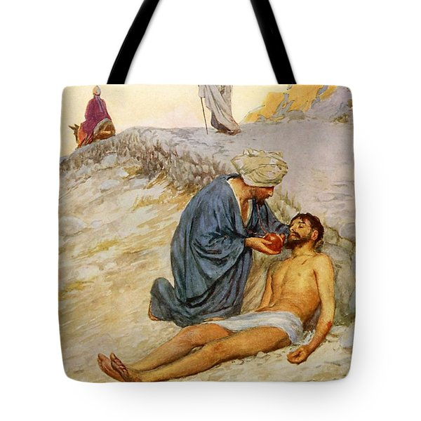 The Good Samaritan Tote Bag by William Henry Margetson