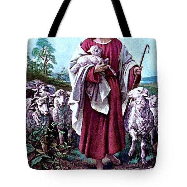 The Good Shepherd 1878 Bernhard Plockhorst Tote Bag