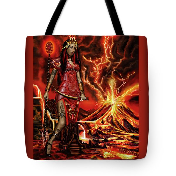 The Goodess Pele Of Hawaii Tote Bag by James Christopher Hill