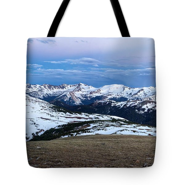 The Gore Range At Sunrise - Rocky Mountain National Park Tote Bag by Ronda Kimbrow