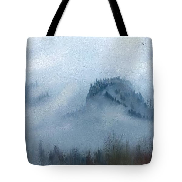 The Gorge In The Fog Tote Bag