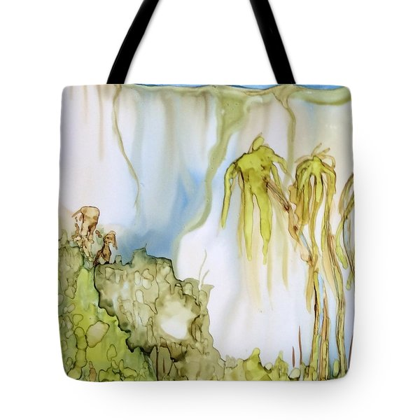 Tote Bag featuring the painting The Gorge by Pat Purdy