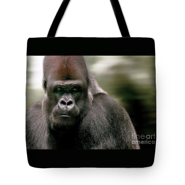Tote Bag featuring the photograph The Gorilla by Christine Sponchia