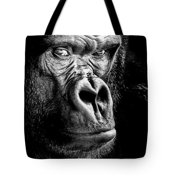 The Gorilla Large Canvas Art, Canvas Print, Large Art, Large Wall Decor, Home Decor Tote Bag by David Millenheft