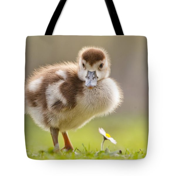 The Gosling And The Flower Tote Bag