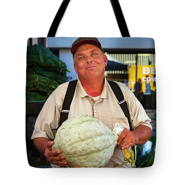 Tote Bag featuring the photograph The Gourd Man by Craig J Satterlee