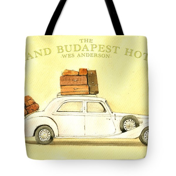The Grand Budapest Hotel Watercolor Painting Tote Bag