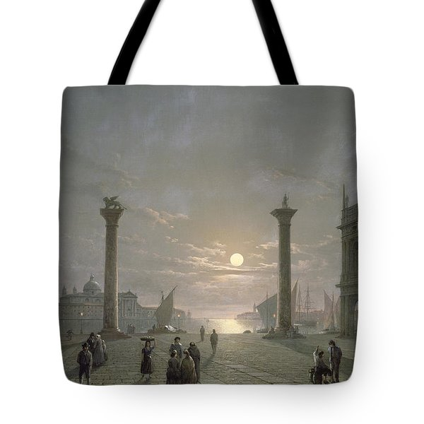 The Grand Canal From Piazza San Marco Tote Bag by Henry Pether