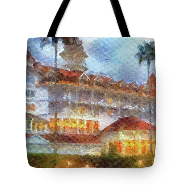 The Grand Floridian Resort Wdw 01 Photo Art Mp Tote Bag