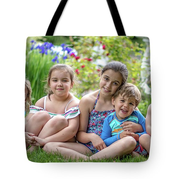 The Grand Kids In The Garden Tote Bag