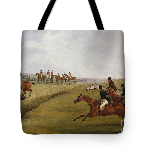 The Grand Leicestershire Steeplechase, March 12th, 1829 Tote Bag