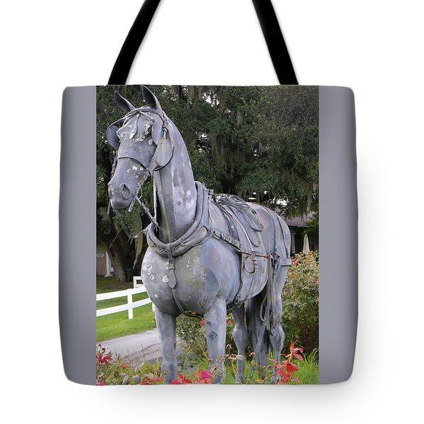 Horse At The Grand Oaks Resort Tote Bag