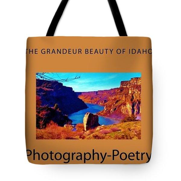 The Grandeur Beauty Of Idaho Tote Bag