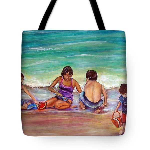 Tote Bag featuring the painting The Grands by Patricia Piffath