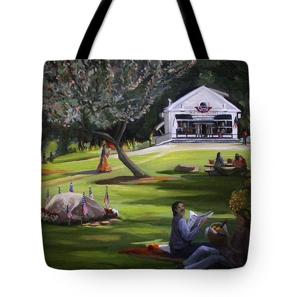 The Granville Green Tote Bag by Nancy Griswold
