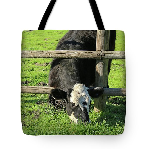 Tote Bag featuring the photograph The Grass Is Always Greener by Art Block Collections