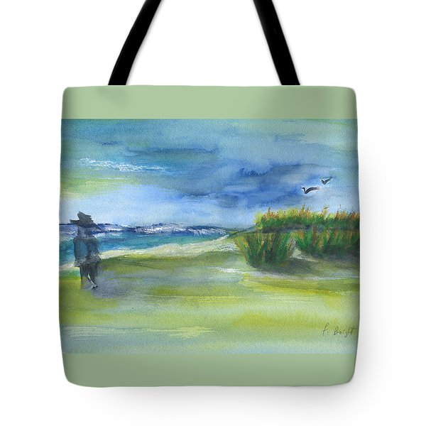 The Gray Man Visits Pawleys Island Sc Tote Bag