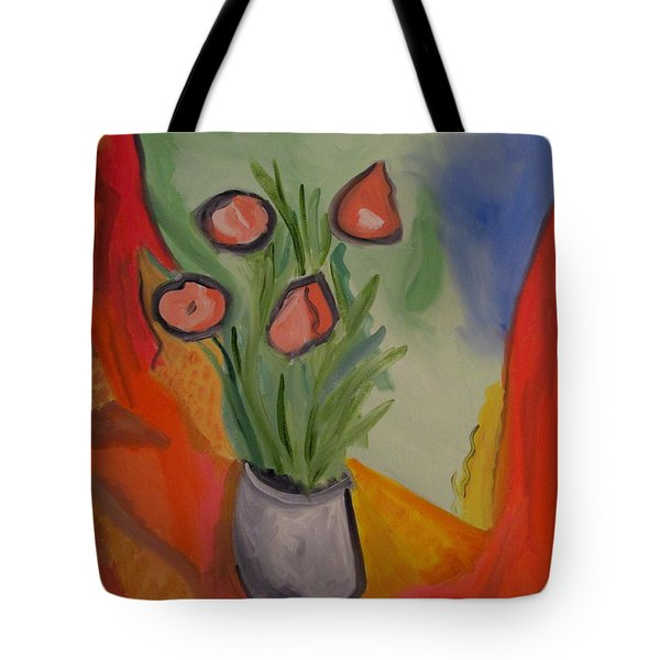 Tote Bag featuring the painting The Gray Vase by Bill OConnor