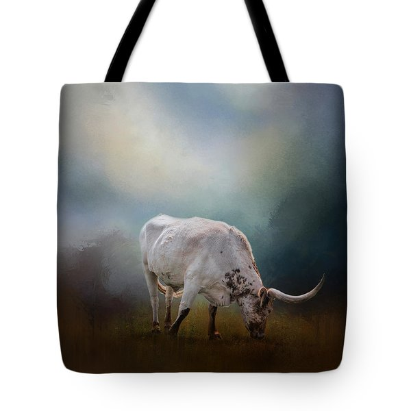 The Grazing Texas Longhorn Tote Bag