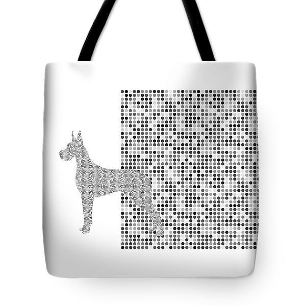 The Great Dane Black And White Tote Bag