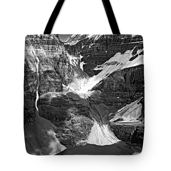 The Great Divide Bw Tote Bag by Steve Harrington