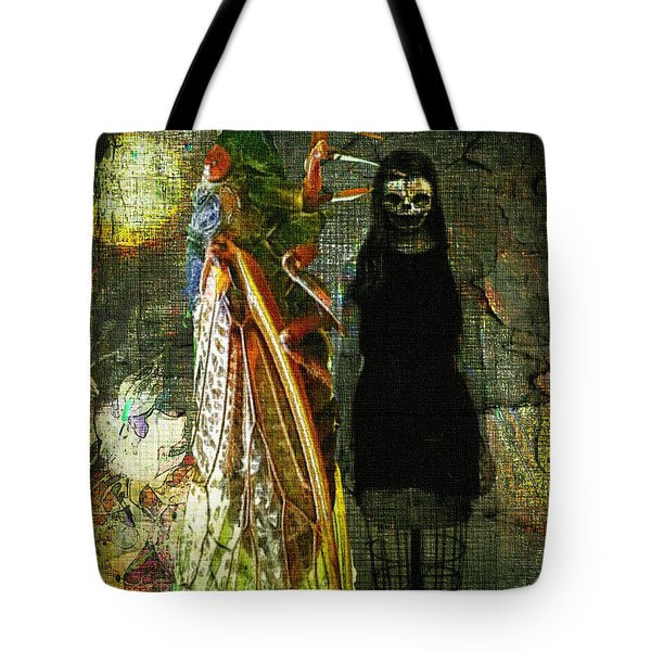 Tote Bag featuring the digital art The Great Escape by Delight Worthyn