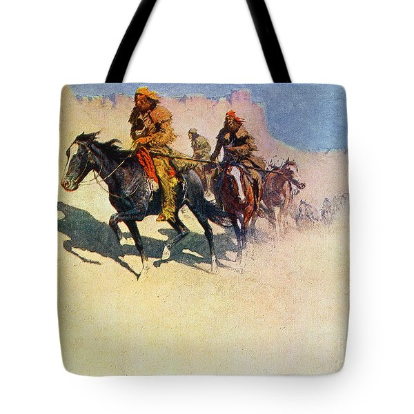 The Great Explorers Tote Bag by Frederic Remington