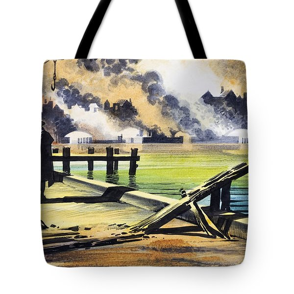 The Great Fire Of London Tote Bag