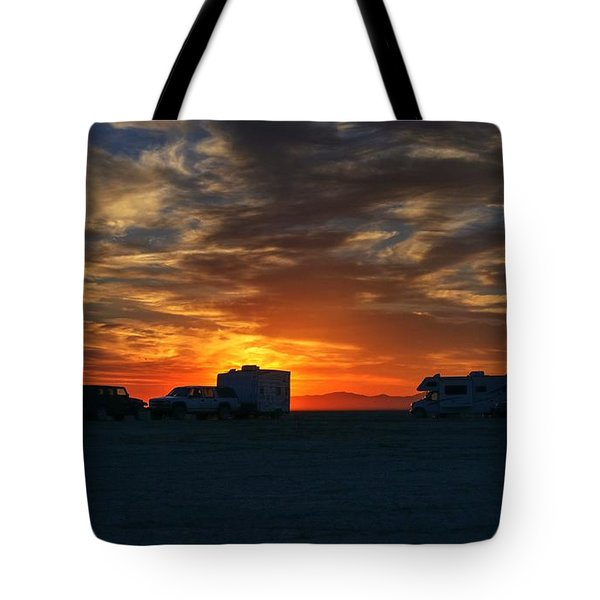 Tote Bag featuring the photograph The Great Gig In The Sky by Peter Thoeny