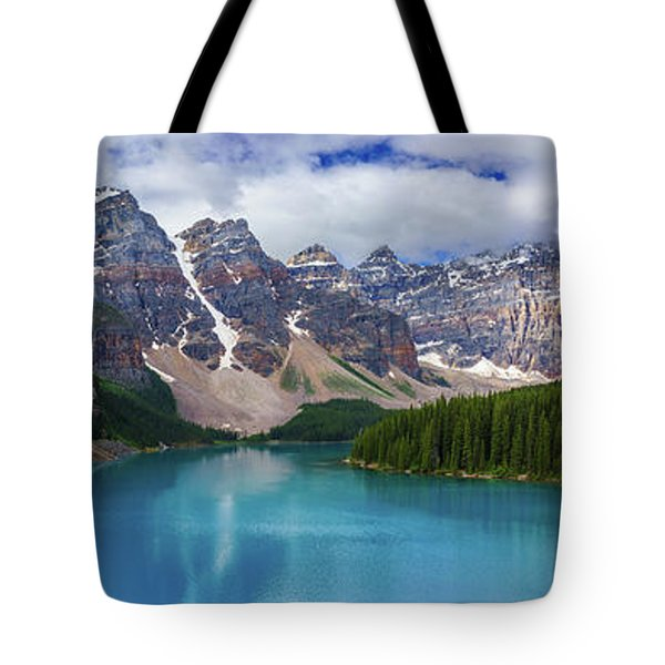 The Great Morraine Pano Tote Bag