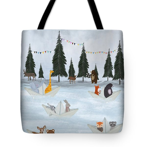 The Great Paper Boat Race Tote Bag