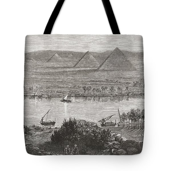 The Great Pyramids Of Giza, Egypt From Tote Bag
