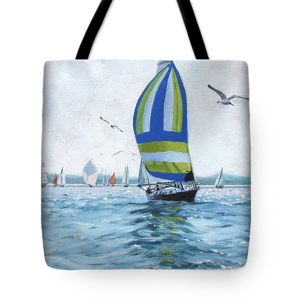 The Great Race 06 Tote Bag by Laura Lee Zanghetti