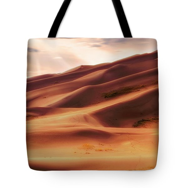 The Great Sand Dunes Of Colorado - Landscape - Sunset Tote Bag by Jason Politte