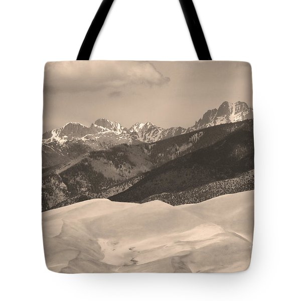 The Great Sand Dunes Sepia Print 45 Tote Bag by James BO  Insogna