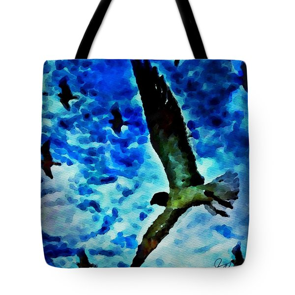 Tote Bag featuring the painting The Great Seagull by Joan Reese