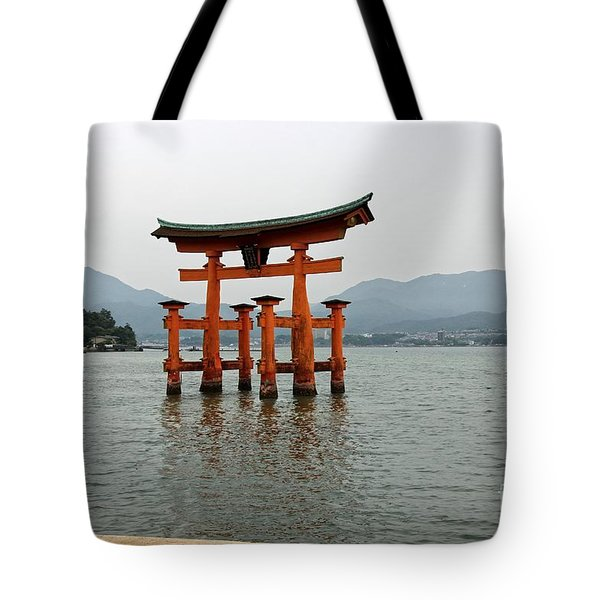 Tote Bag featuring the photograph The Great Torii by Yumi Johnson